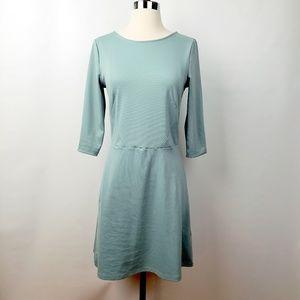H&M Mint Green Shift Dress Small 3/4 Sleeves